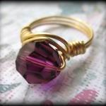 Purple Crystal Ring.made A..